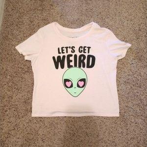 Let's Get Weird Alien Tee